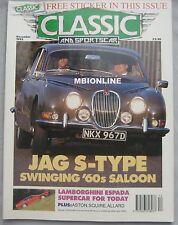 Classic & Sportscar 12/1992 featuring Lamborghini, Triumph, Jaguar, Aston Martin