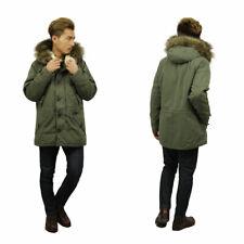 Abercrombie & Fitch Men's Sherpa Lined Cotton Faux Fur Heavy Parka Coat
