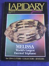 LAPIDARY JOURNAL - MELISSA - Dec 1985 v 39 # 9