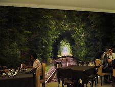 3D Voies Ferrées 2 Photo Papier Peint en Autocollant Murale Plafond Chambre Art
