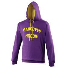 Sweat à capuche jaune violet HANGOVER copine copain teenager étudiant Sweat à capuche top