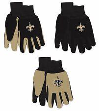 Nwt Nfl New Orleans Saints No Slip Gripper Palm Utility Work Gardening Gloves