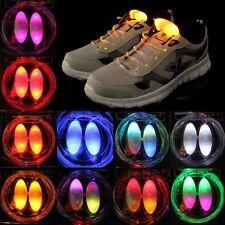 COPPIA LACCI LED RGB PER SCARPE E ZAINI LUMINOSI PER SPORT LAMPEGGIANTI  UNISEX 31b5895cfc7