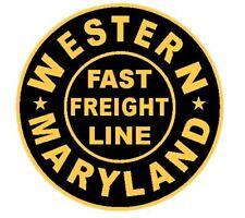 Western Maryland Railroad Sticker R4617 Fast Freight Line Train YOU CHOOSE SIZE