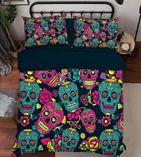 3D Painted Skull 686 Bed Pillowcases Quilt Duvet Cover Set Single King UK Summer