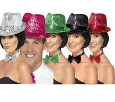 Lentejuelas sombrero trilby Mujer vedette años 20 Butlins Estilo De Disfraz
