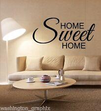 HOME SWEET HOME (1) - QUOTE / WALL ART VINYL / DECAL CAR, VAN, BOAT, BIKE TABLET