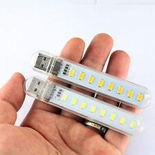 Mobile Power USB LED Lamp 8 Leds LED Lamp Lighting Computer Night Light White AT