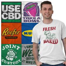 Marijuana Tee Shirt Pot T Shirts For Mens Women Stoner Novelty Gift TShirts Tees