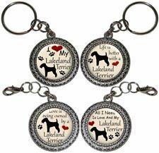 Lakeland Terrier Dog Key Ring Key Chain Purse Charm Zipper Pull Handmade #2