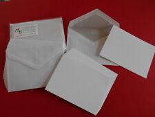 10 Briefkarten Karten A6 mit Umschlägen Kuverts C6 selbstklebend weiß