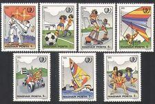 UNGHERIA 1985 SPORT/Giochi/gioventù/Calcio/Karate/deltaplano/Go-Kart 7 V (n34709)