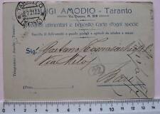 cartolina Luigi Amodio Prodotti alimentari - TA 6624