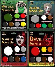 Multi Paletas Diablo Bruja Zombie Vampiro Drácula Halloween Miedo maquillaje