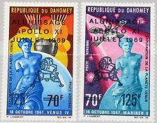 DAHOMEY 1969 387-8 C103-4 Man´s 1st Landing Moon Mondlandung Space Apollo 11 MNH