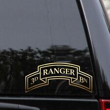 Army 3rd Ranger Battalion Veteran Decal Sticker Car Truck Window Patch Laptop