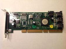 *LATEST Rev1.0*Supermicro AOC-SAT-MV8 8-Port SATA RAIS Card For 1U 2U low Profil