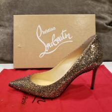 Christian Louboutin DECOLLETE 554 85 Glitter Regina Heels Pumps Shoes $745