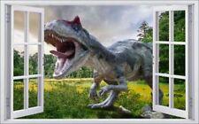 Dinosaurier Dino Wiese Bäume Wandtattoo Wandsticker Wandaufkleber F0566