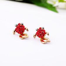 Boucles d`Oreilles Clous Puces Petit Poisson Rouge Mignon Cadeau Fille NN 2
