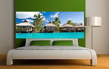 Adesivo testata del letto decorazione da muro il maldive 3687 (5 dimensioni)
