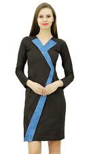 Bimba Women's Elegant Long Sleeve Bodycon Dress Designer Dresses