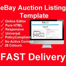 eBay Listing Auction Template HTML Responsive Mobile Design Store Shop 2019HTTPS