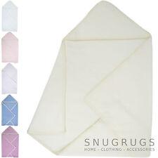 Babies / Baby Warm Luxury Fleece Reversible Hooded Wrap / Blanket