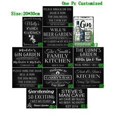 Beer Garden Vintage Metal Tin Signs Man Cave Retro Art Wall Decor Poster