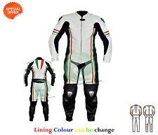 DRAPEAU DE L'Italie Style Revêtement combinaison cuir MOTOGP COURSE une pièce