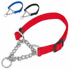 Martingale Dog Collar Nylon Chain Choke training Guardian Free Gear Shippin H8V7