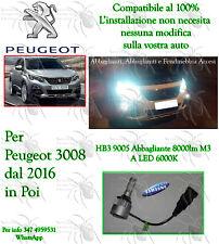 Lampada a Led HB3 9005 8000LM M3 6000K CANBUS Per Abbaglianti Peugeot 3008