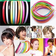 Lot de 5 Serre-tete Bandeau Plastique Cheveux Accessoire Fille Femme Headband