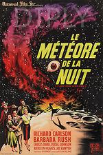 PLAQUE ALU DECO AFFICHE CINEMA LE METEORE DE LA NUIT PLANETE SPACE 1963 OEIL