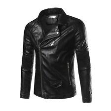 Men's Genuine Lambskin Real Leather Motorcycle Jacket Slim fit Biker Jacket - FJ