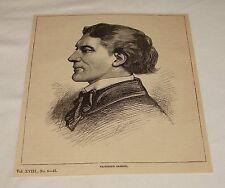 1884 magazine engraving ~ VICTORIEN SARDOU, Playwright