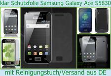 2x klar Display schutz folie Samsung Galaxy Ace S5830 Handy 3 - lagig Folien Set