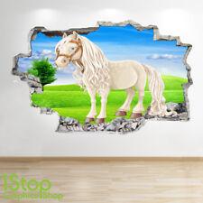 Caballo Pared Adhesivo 3D Look-Niños Niñas Niños Pony la etiqueta de la pared Z731