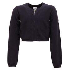 4193S maglione bimba ARMANI JUNIOR cardigan coprispalla blu sweater cotton kid