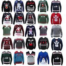 Caballeros Mujeres Navidad Divertido Jersey Grosero Muñeco De Nieve Reno Santa
