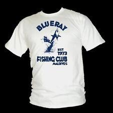 BLU RAY D'ALTO MARE SPORT PESCA CLUB VINTAGE Beach Da Uomo T-Shirt Tutte Le Taglie