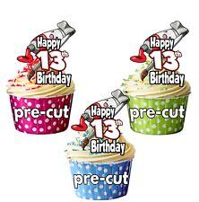 Formato de Pintura Brocha Y Arte Craft 12 Cupcake Toppers Decoración De Cumpleaños Cualquier Edad