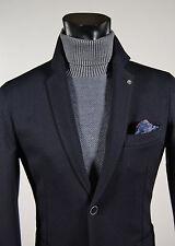 Giacca moda slim fit sfoderata Falko Rosso Made in Italy Blu micro fantasia