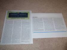 Soundcraftsmen AE2420-R Equalizer Review, 2 pgs, 1981