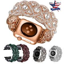 Bling Crystal Diamond Rhinestone Band Wrist Watch Strap For Apple Watch Iwatch