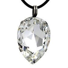 Grevenkämper Halskette Swarovski Kristall Tropfen Kautschukband klar Crystal
