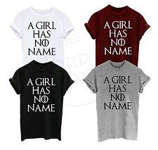 No tiene una chica tiene nombre inspirado Arya Stark Gracioso Camiseta Tumblr De Moda Unisex