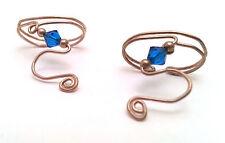 Sterling Silver Ear Hugger Flexible Earrings with Stones