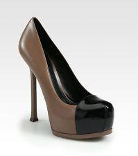 82cabea093a YSL Yves Saint Laurent Tribute Two Cap Toe Platform Pumps Heels Shoes 39  $795