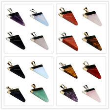 Fashion Stein Triangle Anhänger Charme fit Halskette Versilbert/Vergoldet